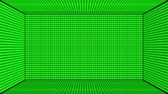 Green Screen Design 25 box flickering Stock Footage