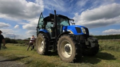 Tractor and Farm Labour Stock Footage