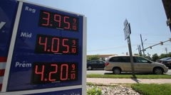 High Gas Prices $3.95 - $4.20 Stock Footage