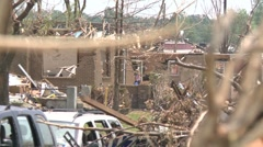 Tornado Devastation in Neighborhood-25 Stock Footage