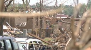 Stock Video Footage of Tornado Devastation in Neighborhood-25