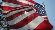 American Flag (LOW ANGLE) Stock Footage