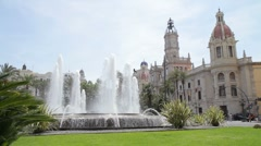 Valencia Town Hall Stock Footage