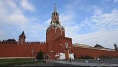 Red Square Moscow Clock Tower Stock Footage