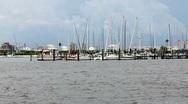 Sailboats Docked In Tampa Bay Sea Basin Stock Footage
