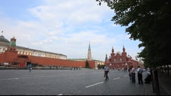 Red Square Moscow from the south view Stock Footage