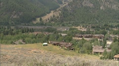 Idaho Summer Ski Resort tilt - stock footage