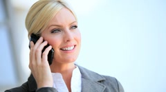 Female Business Executive with Smartphone in Close up Stock Footage