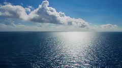 Sunny Ocean Blue Water Tranquil Horizon - stock footage