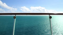 Cruise Liner Balcony Background Plate Stock Footage