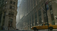 NYC cab, NYC sunny day - stock footage