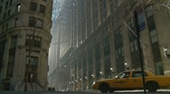 NYC cab, NYC sunny day Stock Footage