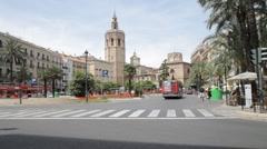 Valencia Square Stock Footage
