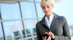Young Female Business Executive Talking on Smartphone Stock Footage
