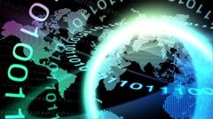 Globe Numbers Loop Stock Footage