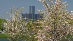 Spring time in the motor city - stock footage