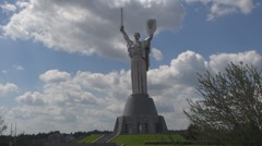 Mother Motherland, Museum of the Great Patriotic War , Kiev, Ukraine Stock Footage