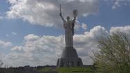 Stock Video Footage of Mother Motherland, Museum of the Great Patriotic War , Kiev, Ukraine