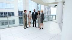Modern Multi Ethnic Business Team Stock Footage