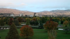 Boise Fall Wide Morning Stock Footage