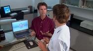 Stock Video Footage of High Tech Lab Teamwork