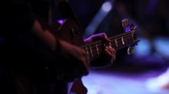Concert Lead Guitar Stock Footage