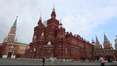 Red Square early morning Stock Footage