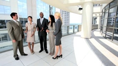 Team of Five Multi Ethnic City Business People Stock Footage