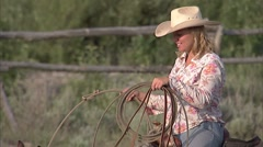Western Cowgirl Dude Ranch 17 Stock Footage