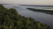 Stock Video Footage of River Volga from hills