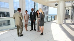 Team of Smart Multi Ethnic City Business People Stock Footage