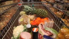 Shopping-cart - stock footage