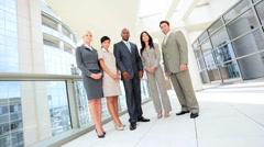 Ambitious Multi Ethnic Business Team in Portrait Stock Footage