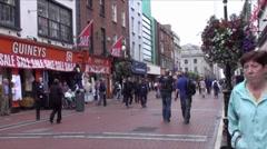 Dublin City 2 Stock Footage
