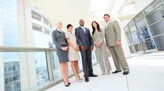 Portrait of Successful Multi Ethnic Business Team Stock Footage