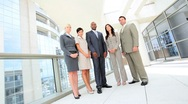 Portrait of Successful Multi Ethnic Business Team Stock Footage