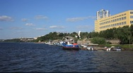 Stock Video Footage of Samara City on the River Volga