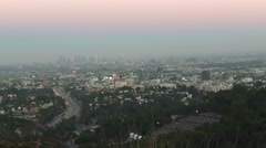 A view of Los Angeles from Hollywood Stock Footage