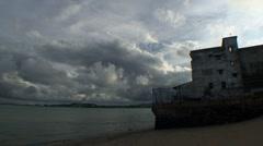 Panama City oldtown cloudy sky Stock Footage