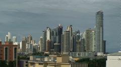 Panama City modern skyline - stock footage
