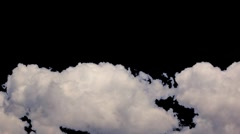 HD Pre-Keyed alpha channel cummulus cloud thunderhead formations  in time lapse Stock Footage