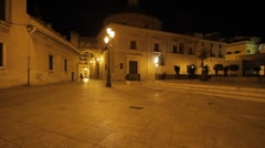 Valencia Archbishop Square Stock Footage