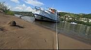 River Volga Boat Stock Footage