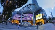 Stock Video Footage of Ion Orchard shopping Mall Orchard Road Singapore