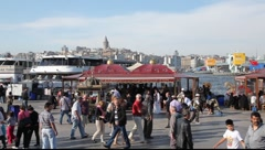 Waterfront of the Golden Horn Istanbul Turkey Stock Footage