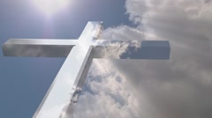 Cross and Clouds (part1) Stock Footage