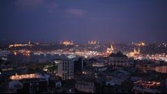 Skyline of Istanbul from Beyoglu Istanbul Turkey - stock footage