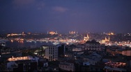 Stock Video Footage of Skyline of Istanbul from Beyoglu Istanbul Turkey