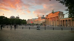Brandenburg Gate Berlin Germany Stock Footage
