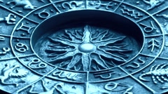 Astrology wheel Stock Footage